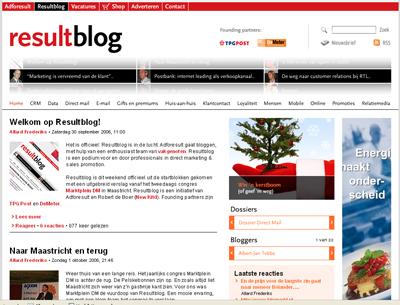 Resultblog homepage