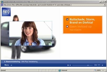 FBTO maakt het 'lezen' van informatie over haar autoverzekering een stuk warmer door een presentatrice in te zetten.