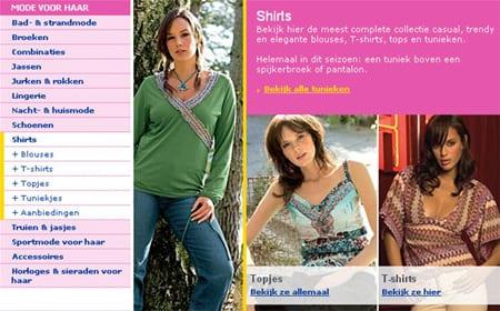 Voorbeeld van een pagina waar meerdere links wijzen naar dezelfde pagina