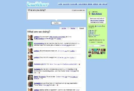 Twitter personal page