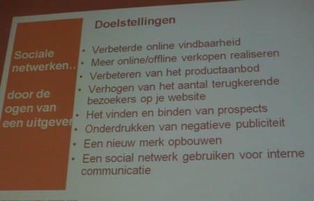 doelstellingen gebruik online communities