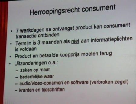 herroepingsrecht consumenten