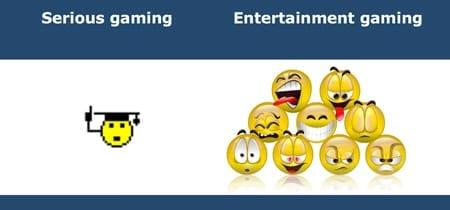 serious gaming vs entertainment gaming