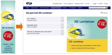 Campagne van NS Lentetoer
