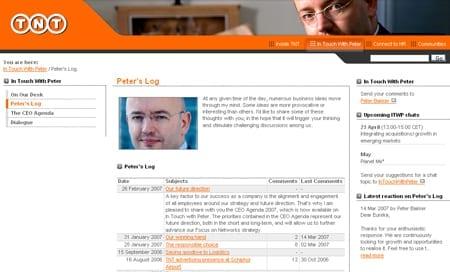 Weblog Peter Bakker CEO TNT