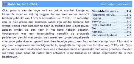 review op Zoover