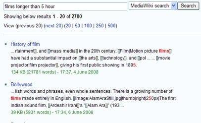 Zoekresultaten Wikipedia