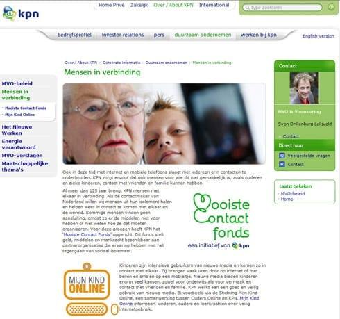 De sociale bijdrage van KPN: mensen in verbinding brengen