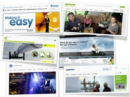 Collage brandboxes Ahold, Ordina, BP, IBM, General Electric en Centrica