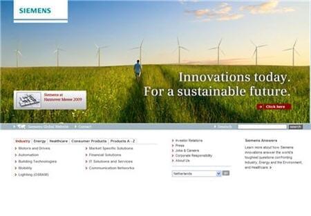 Siemens homepage