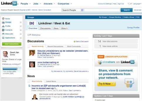 Linkdiner op LinkedIn