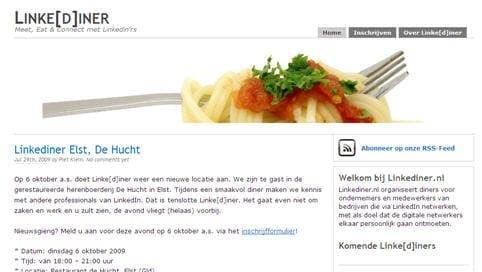 Linkdiner homepage