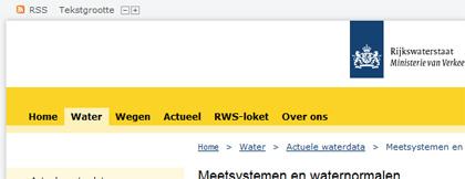 Navigatie van rws.nl