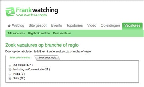 Frankwatching-Vacatures