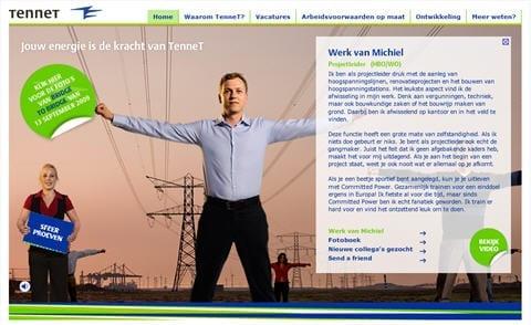 Screenshot: Ook de winnaar van 2008, TenneT is weer genomineerd