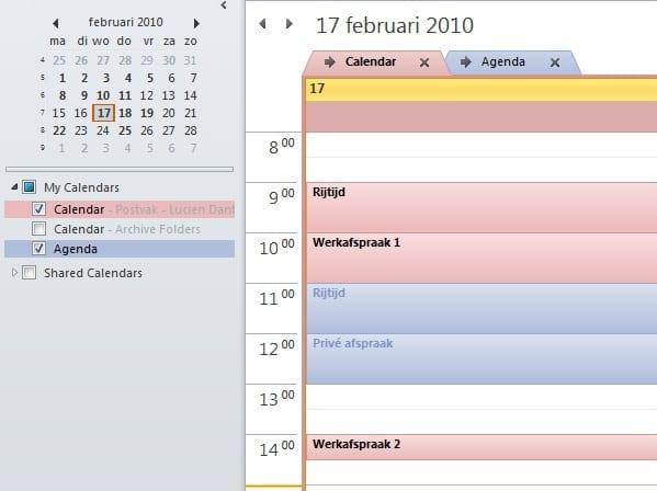 Outlook 2010 overlay