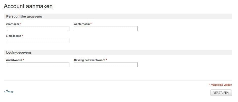 Eenvoudig registreren
