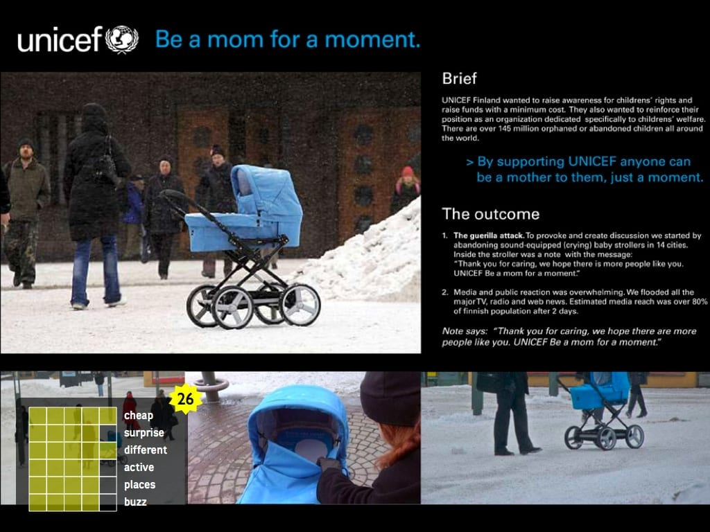 UNICEF Be a mom for a moment