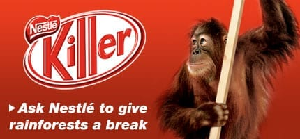 Kitkat actie van Greenpeace