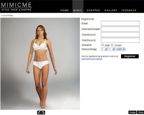 MimicMe: maken van je eigen virtuele model.