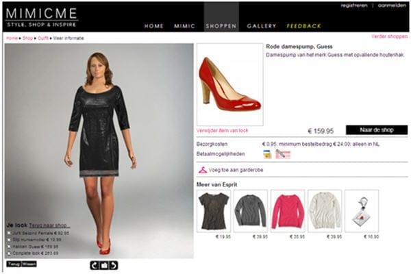 MimicMe, kopen van producten gaat via het affiliate model