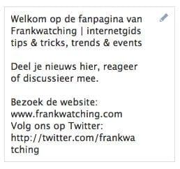Frankwatching op facebook