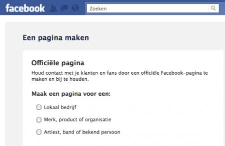 hoe maak je een pagina op facebook