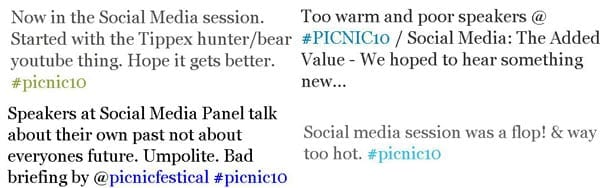 picnic social media sessies tweet