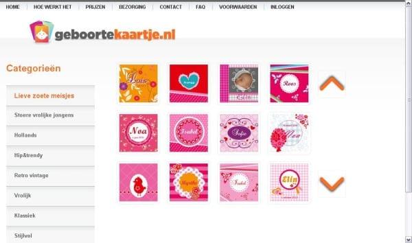 geboortekaartje.nl_screenshot