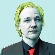 Julian Assange (uitsnede naar een origineel van Mataparda)