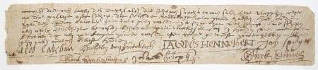 Een voorbeeld van een polsstokbriefje