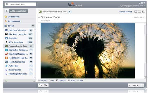 WebReader_Screen_home