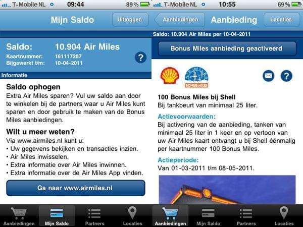 Air Miles App Air Miles Sparen En Inwisselen Op Je Mobiel