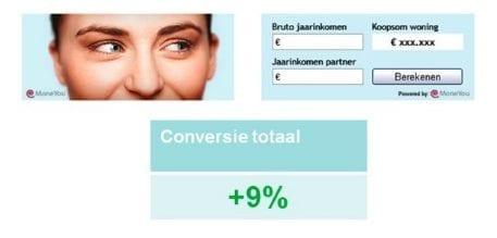 9% meer conversie