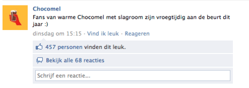 Facebook Chocomel posting