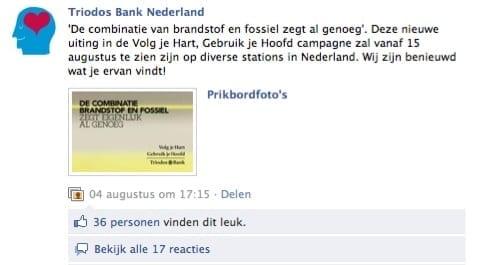 Facebook | Triodos Bank Nederland