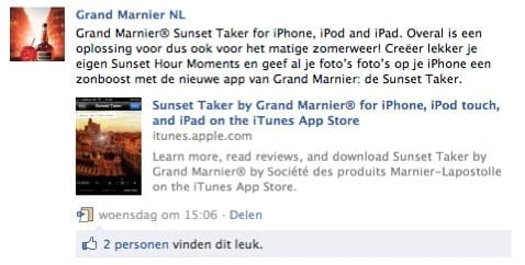 Grand Marnier facebook posting