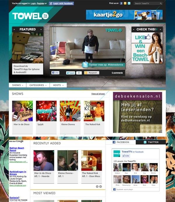 TowelTV: Online TV-station voor jongeren - Frankwatching Reports