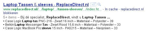 List snippets in Google