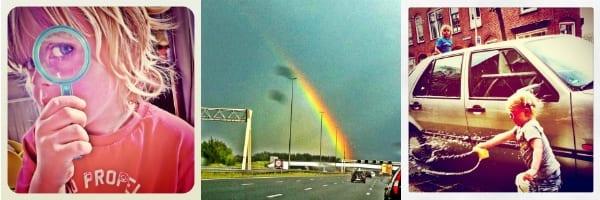 Regenboog, Vergootglas, autowassen