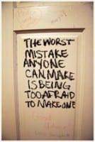 Schrijf over fouten
