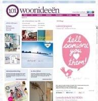 De homepage van 101 Woonideeen