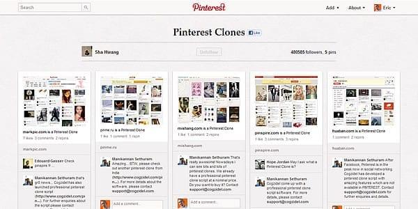 Het Droste-effect: een Pinterest board van Pinterest lookalikes