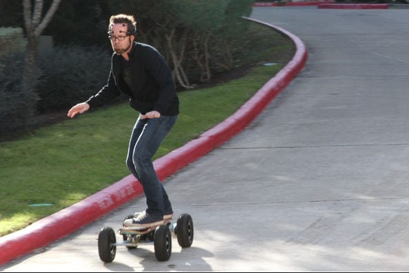 Mind-controlled skateboard