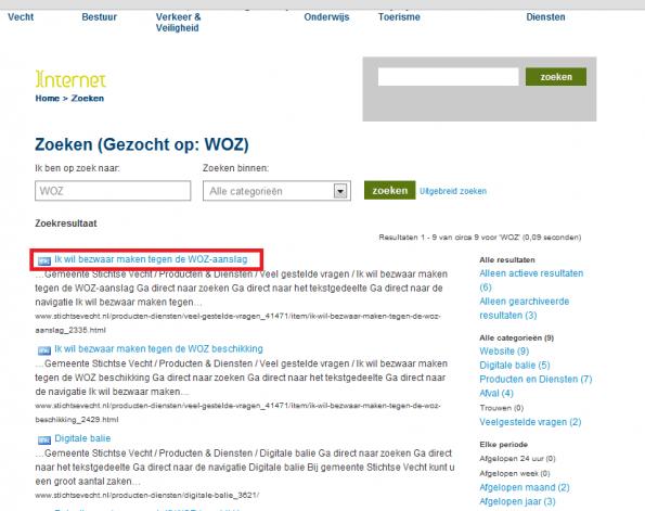 Zoekresultaten WOZ stichtsevecht.nl
