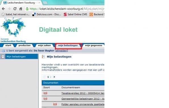 Taxatieverslag digitaal loket