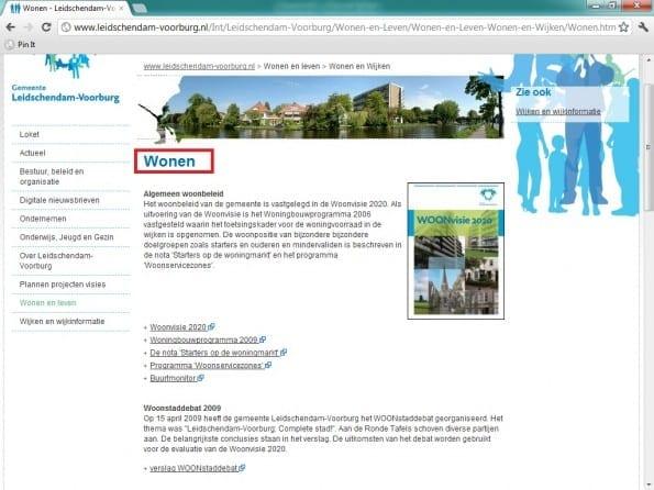 Wonen pagina Leidschendam-Voorburg.nl