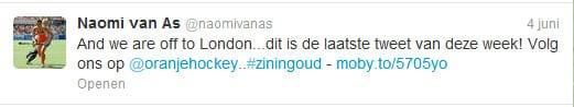 Naomi van As op Twitter