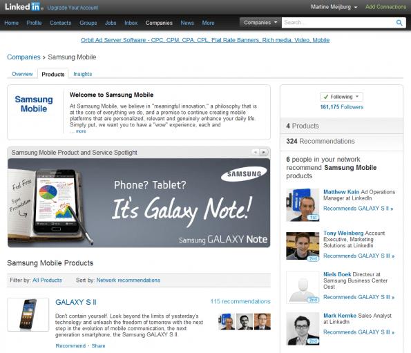 Company Page Samsung Mobile