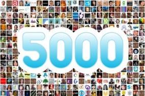 5000 volgers
